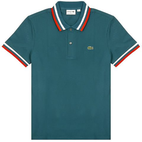 PH4243-89U Made in France Pique Polo in Blue / Red / White Polo Shirts Lacoste