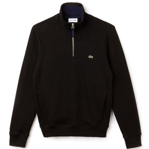 SH4288-DY4 Quarter Zip Sweatshirt in Black Jumpers Lacoste