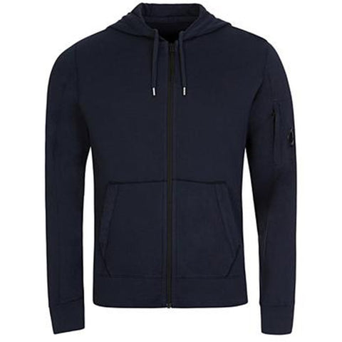 Arm Lens Hoodie in Eclipse Navy Hoodies CP Company