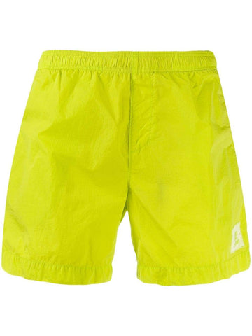 Chrome Swim Shorts in Lime Green Shorts CP Company