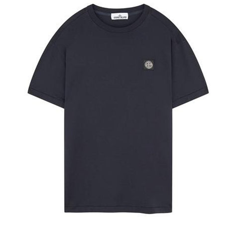 Crew Neck Logo T-Shirt in Navy Blue T-Shirts Stone Island