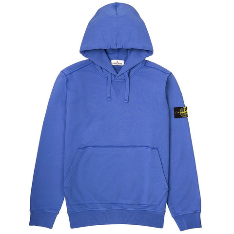 Hooded Sweatshirt in Blue Hoodies Stone Island