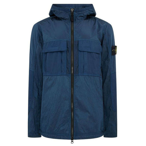 Nylon Ripstop Jacket in Navy Marine Coats & Jackets Stone Island
