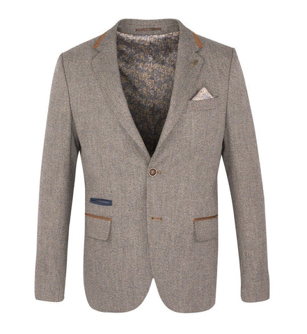 FJK.1009 Tan Tweed Jacket Suit Jacket Fratelli Uniti
