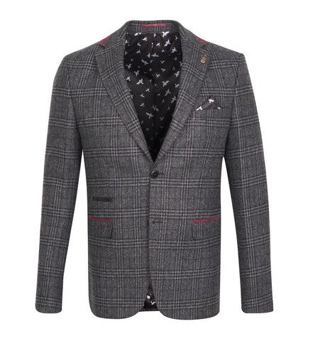 FJK.1010 Dark Grey Check Tweed Jacket Suit Jacket Fratelli Uniti