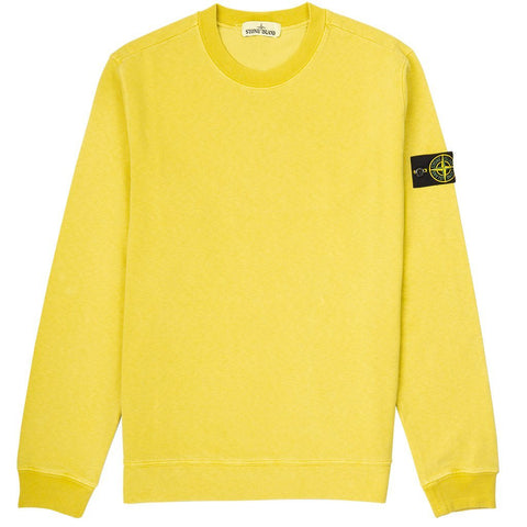 Old Dye Treatment Sweatshirt in Yellow Jumpers Stone Island