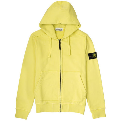 Full Zip Hooded Sweatshirt in Yellow Hoodies Stone Island