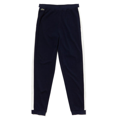 XH4376-D8S Colourblock Pique Fleece Pants in Navy / White Joggers Lacoste
