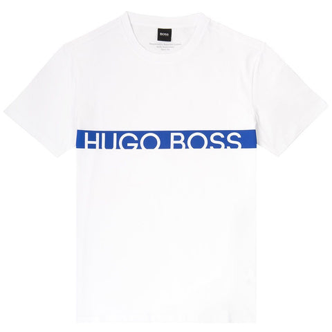 T-Shirt RN Slim Fit in White / Blue T-Shirts BOSS
