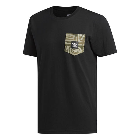 DU8339 Dakari Pocket T-Shirt in Black / Raw Khaki / Night Cargo / White T-Shirts adidas