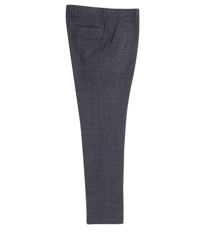 FTR.1010 Navy Check Tweed Trousers Trousers Fratelli Uniti