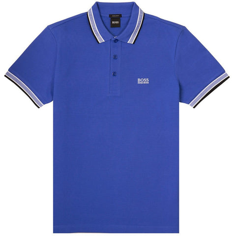 Paddy Polo Shirt in Blue Polo Shirts BOSS