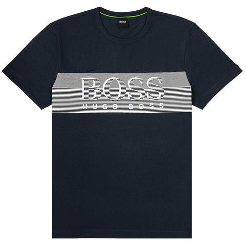 Tee 2 Crew Neck T-Shirt in Navy T-Shirts BOSS