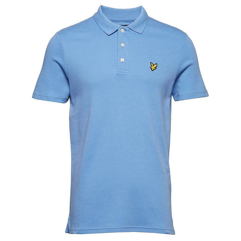 Soft Touch Polo in Cornflower Blue Polo Shirts Lyle & Scott
