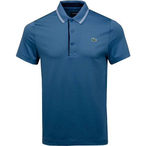 DH3360-6R2 Stretch Technical Polo Shirt in Blue / White / Navy Polo Shirts Lacoste Sport
