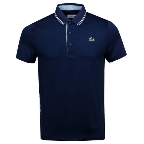 DH3360-FGV Stretch Technical Polo Shirt in Navy Blue / White / Sky Blue Polo Shirts Lacoste Sport