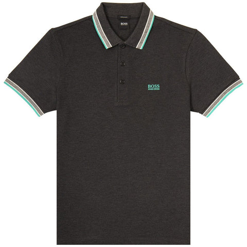 Athleisure Paddy Polo Shirt in Dark Grey Polo Shirts BOSS