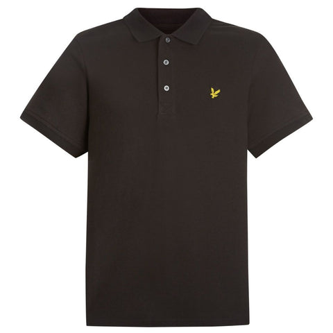 Polo Shirt in True Black Polo Shirts Lyle & Scott