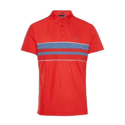 M Leo Reg Lux Pique Polo Shirt in Red Polo Shirts J. Lindeberg