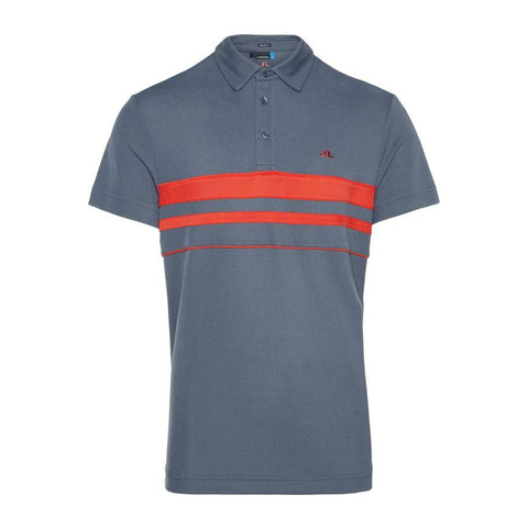 M Leo Reg Lux Pique Polo Shirt in Dark Grey Polo Shirts J. Lindeberg