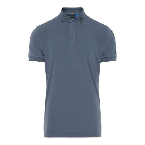 M Tour Tech Reg Fit TX Jersey Polo Shirt in Dark Grey Polo Shirts J. Lindeberg