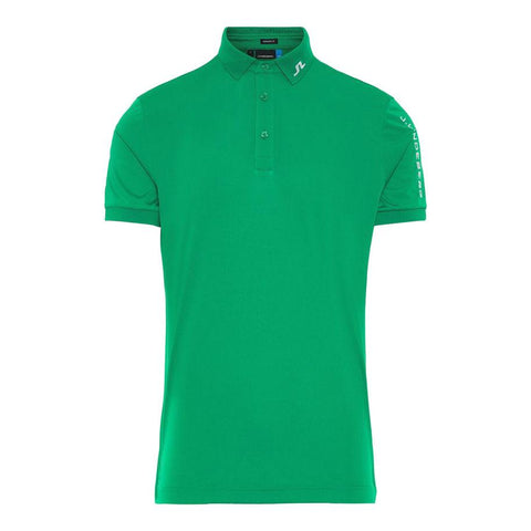 M Tour Tech Reg Fit TX Jersey Polo Shirt in Golf Green Polo Shirts J. Lindeberg