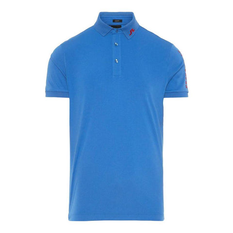 M Tour Tech Reg Fit TX Jersey Polo Shirt in Work Blue Polo Shirts J. Lindeberg