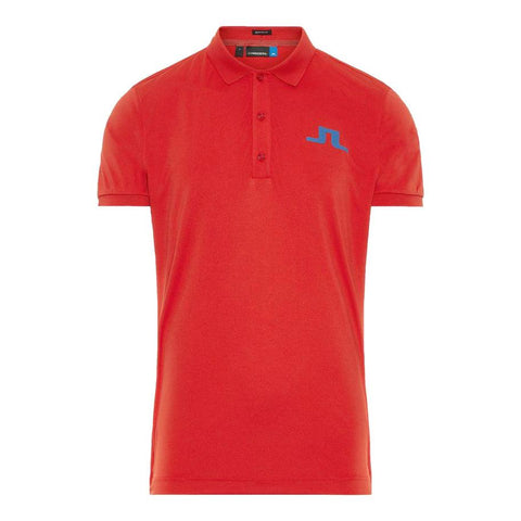 M Big Bridge Reg Fit TX Jersey Polo Shirt in Red Polo Shirts J. Lindeberg