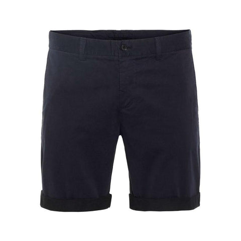 Nathan Satin Shorts in JL Navy Shorts J. Lindeberg