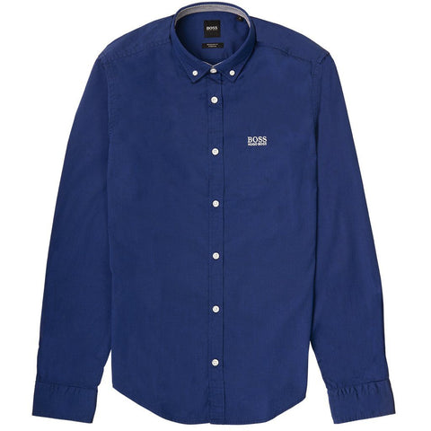 Biado_R Regular Fit Lond Sleeved Shirt in Blue Shirts BOSS