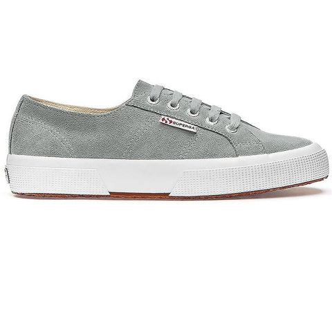 2750 Suede Shoes in Light Grey Trainers Superga Women's