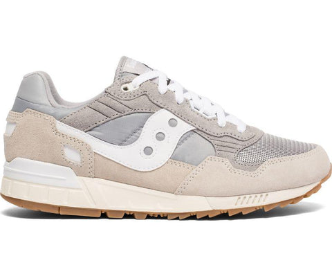 Shaddow 5000 Vintage Trainers in Tan / White Edwards Menswear