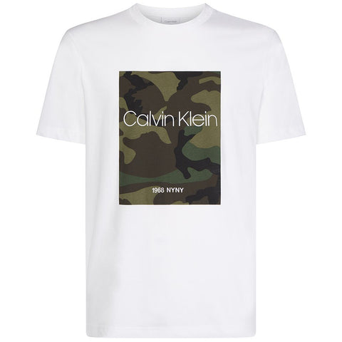 Placement Camouflage T-Shirt in White T-Shirts Calvin Klein