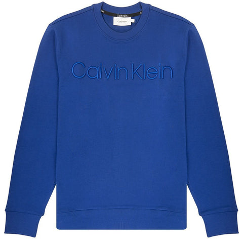 Athleisure Logo Sweatshirt in Sodalite Blue Jumpers Calvin Klein