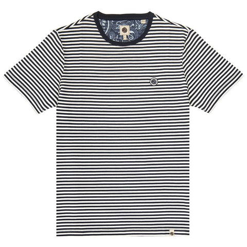 Pretty Green- Striped T-Shirt in navy T-Shirts Pretty Green
