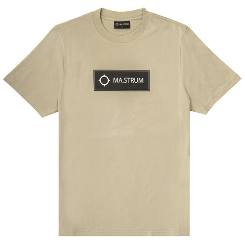Short Sleeved Icon Box Logo Tee in Silver Goose T-Shirts MA.STRUM