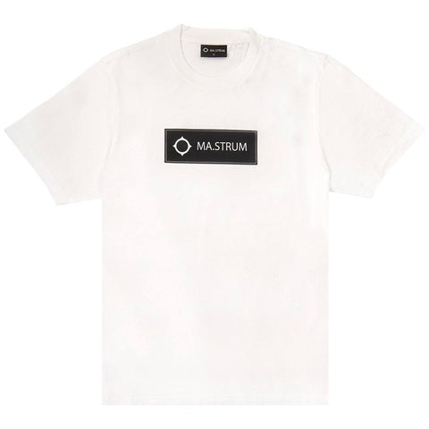 Short Sleeved Icon Box Logo Tee in Optic White T-Shirts MA.STRUM
