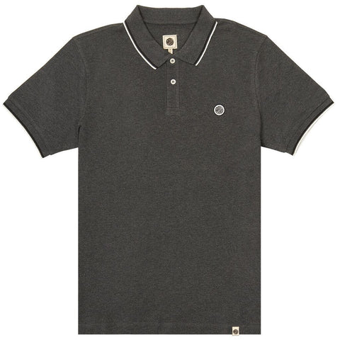 Plique Polo in Grey Polo Shirts Pretty Green