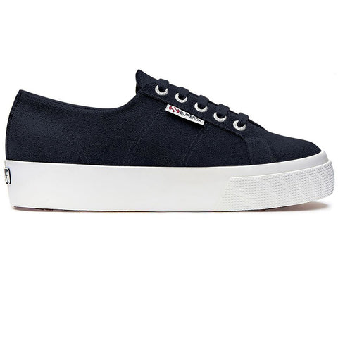 2730 Suede Shoes in Medieval Blue Trainers Superga Women's