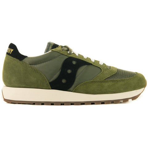 Jazz Original Vintage Shoes in Olive/ Black Trainers Saucony