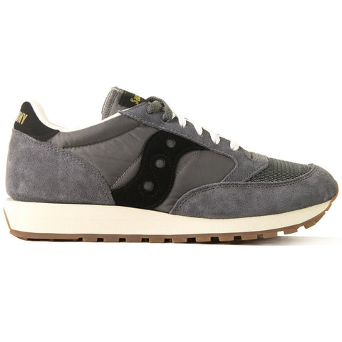 Jazz Original Vintage Shoes in Grey/ Black Trainers Saucony
