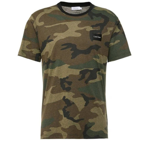 All Over Camouflage Print T-Shirt in MRX Pine T-Shirts Calvin Klein