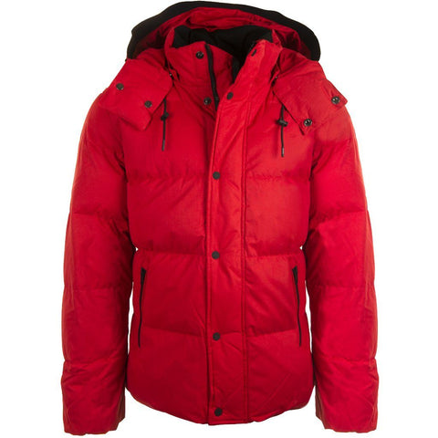 Mid Length Faux Down Jacket in Racing Red Coats & Jackets Calvin Klein