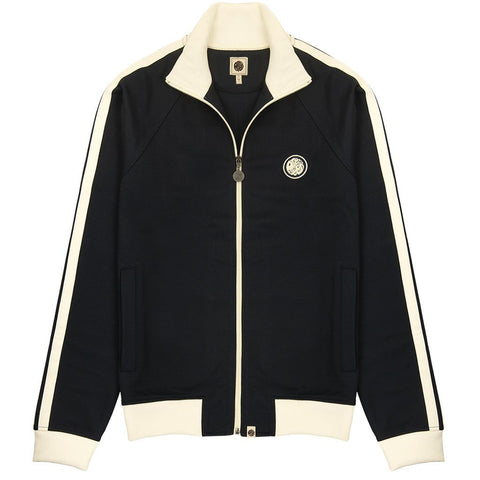 Contrast Panel Track Top in Navy Coats & Jackets Pretty Green