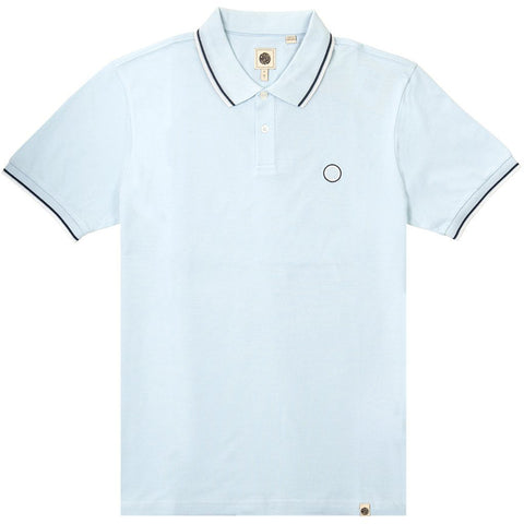 Pique Polo in Blue Polo Shirts Pretty Green