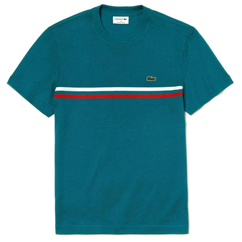 TH4335-89U Made in France Crew Neck T-Shirt in Blue T-Shirts Lacoste