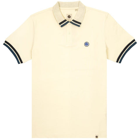 Tipped Polo Shirt in White Polo Shirts Pretty Green