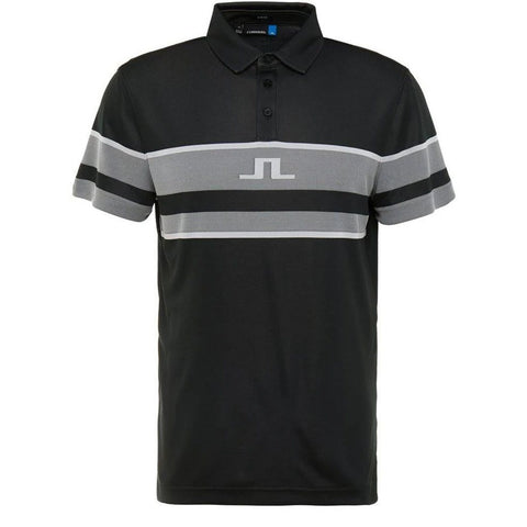 Cole Slim Fit Polo Shirt in Black Polo Shirts J. Lindeberg