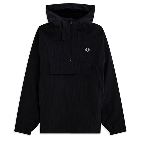 J7523-102 Ripstop Half Zip Jacket in Black Coats & Jackets Fred Perry