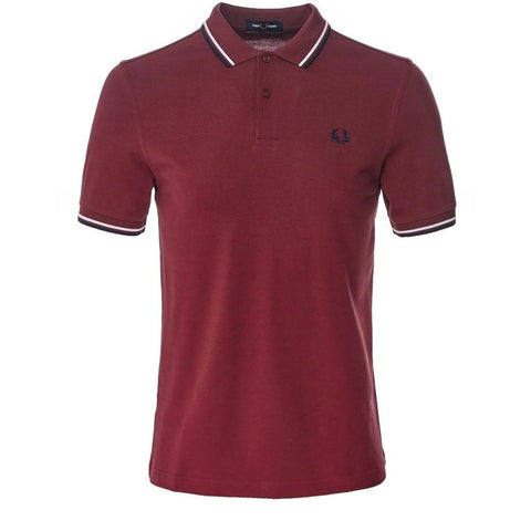 M3600-D31 Twin Tipped Polo Shirt in Dark Red Edwards Menswear